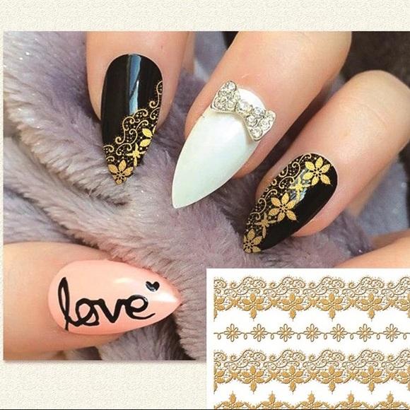 Makeup 3d Gold Nail Art Stickers Poshmark